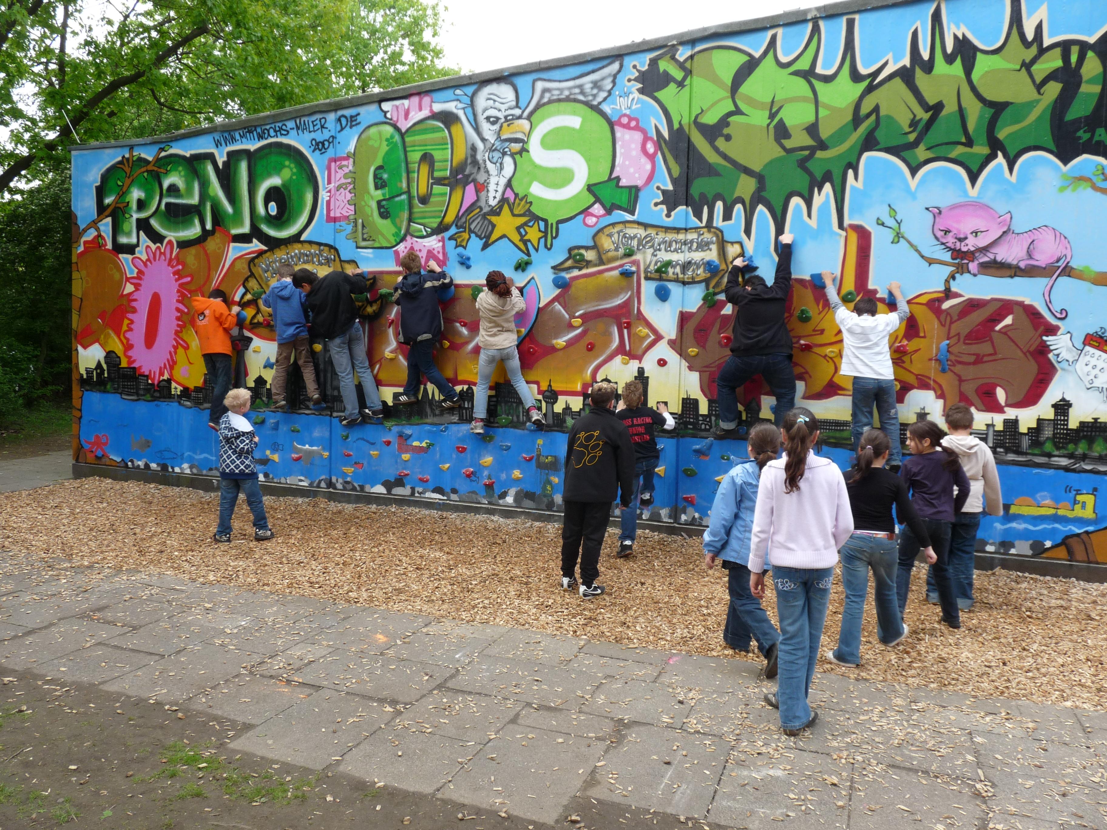 Graffiti Kletterwand